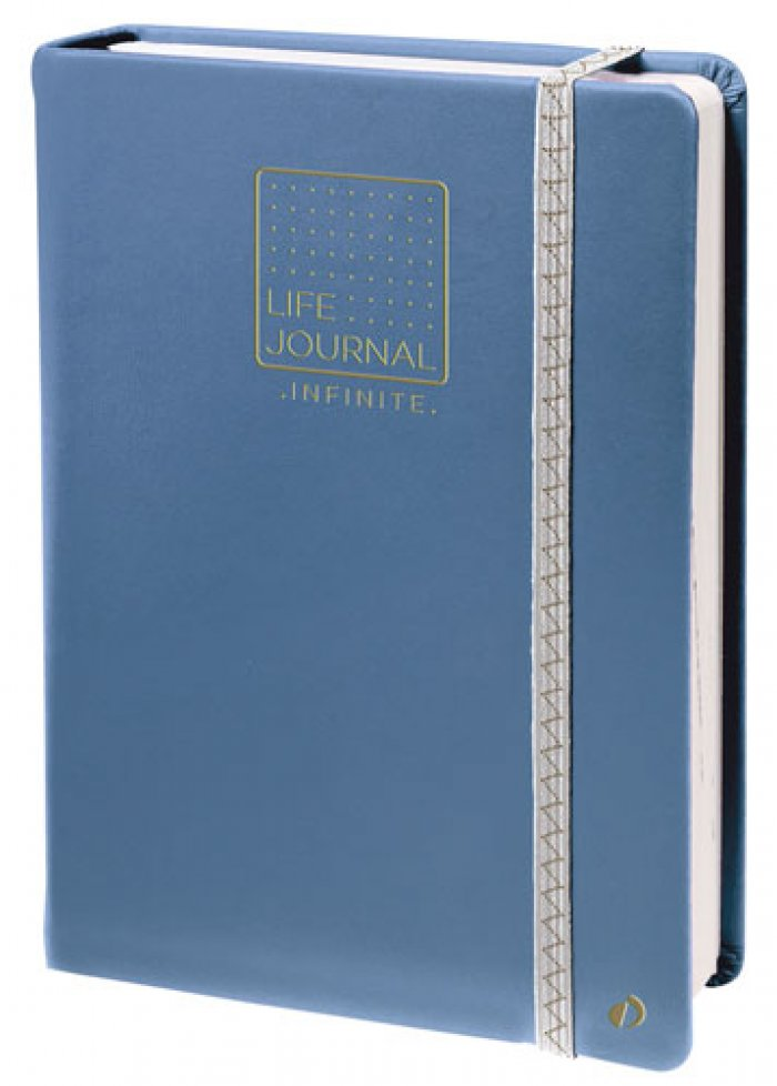 Carnet life journal infinite : bleu gris