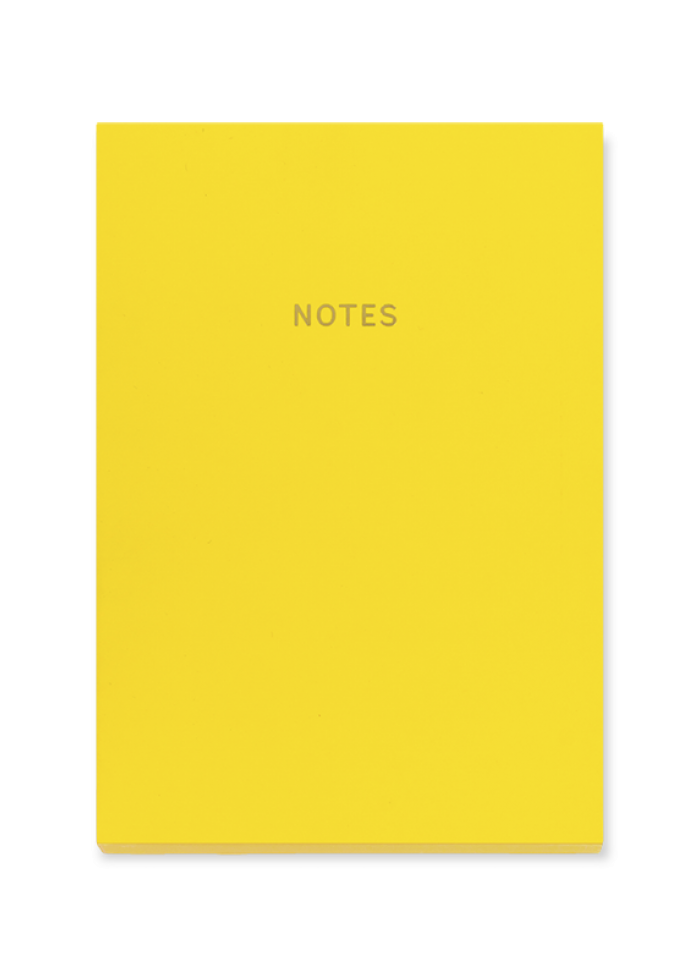 Cahier de notes A5 colourblock : jaune
