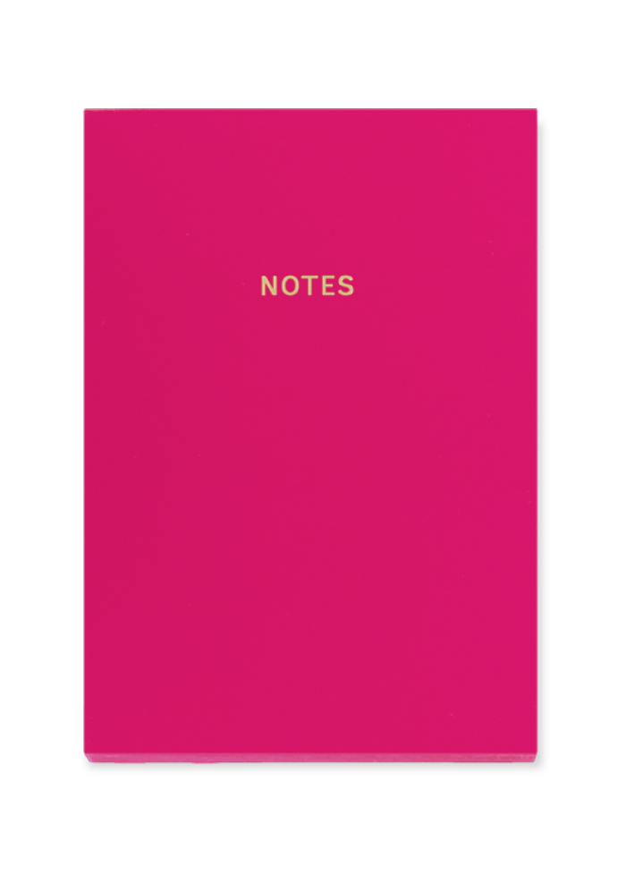 Cahier de notes A5 colourblock : rouge cerise