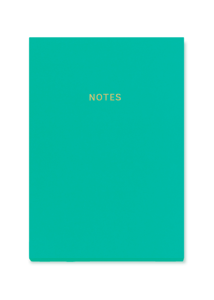 Cahier de notes A5 colourblock : turquoise