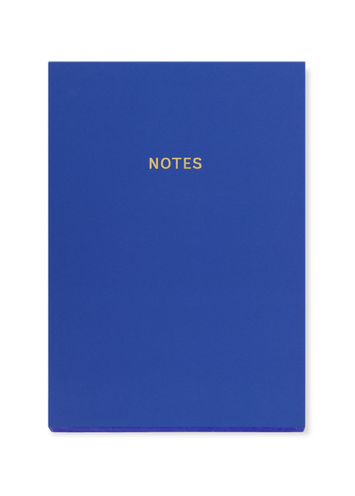 Cahier de notes A5 colourblock : bleu royal